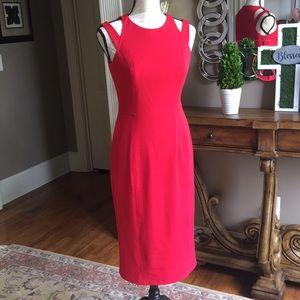 Maggie London sz 4 sleeveless red dress.